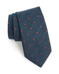 dunkeltürkise gepunktete Krawatte