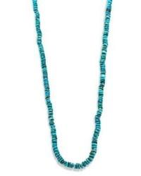 dunkeltürkise Halskette