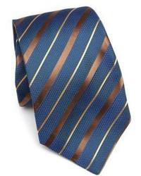 dunkeltürkise horizontal gestreifte Krawatte