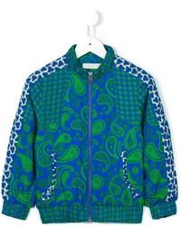 dunkeltürkise Jacke mit Paisley-Muster von Stella McCartney