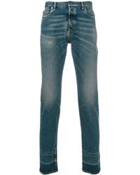 dunkeltürkise Jeans