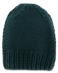 dunkeltürkise Mütze von MM6 MAISON MARGIELA