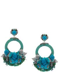 dunkeltürkise Ohrringe von Ranjana Khan