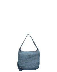 dunkeltürkise Shopper Tasche aus Leder von Billy The Kid