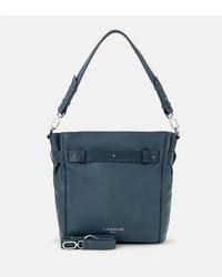 dunkeltürkise Shopper Tasche aus Leder von Liebeskind Berlin