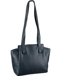 dunkeltürkise Shopper Tasche aus Leder von VOi