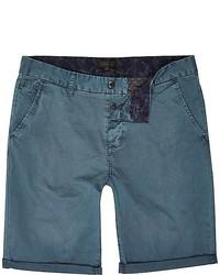 dunkeltürkise Shorts