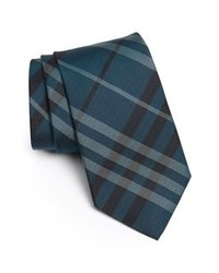 dunkeltürkise vertikal gestreifte Krawatte