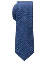 dunkeltürkise vertikal gestreifte Krawatte von Eterna