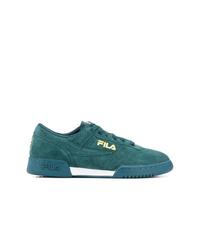 dunkeltürkise Wildleder niedrige Sneakers von Fila