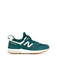 dunkeltürkise Wildleder niedrige Sneakers von New Balance