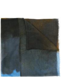 dunkeltürkiser bedruckter Schal von Stella McCartney