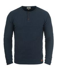 dunkeltürkiser Henley-Pullover von Redefined Rebel