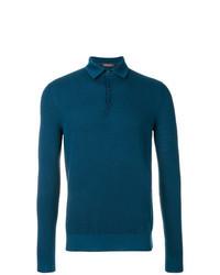 dunkeltürkiser Polo Pullover