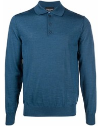 dunkeltürkiser Polo Pullover von Emporio Armani