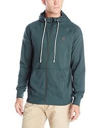 dunkeltürkiser Pullover mit einem Kapuze von Volcom