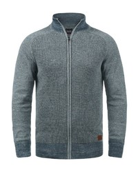 dunkeltürkiser Pullover mit einem Reißverschluß von BLEND