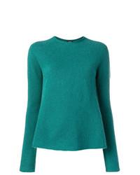 dunkeltürkiser Pullover mit einem Rundhalsausschnitt von Aspesi
