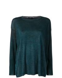 dunkeltürkiser Pullover mit einem Rundhalsausschnitt von Avant Toi
