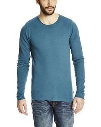 dunkeltürkiser Pullover mit einem Rundhalsausschnitt von Bench