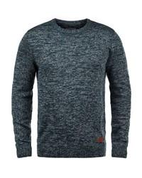 dunkeltürkiser Pullover mit einem Rundhalsausschnitt von BLEND