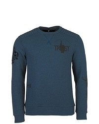 dunkeltürkiser Pullover mit einem Rundhalsausschnitt von Chiemsee