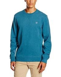 dunkeltürkiser Pullover mit einem Rundhalsausschnitt von Crew Clothing