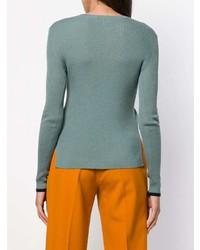 dunkeltürkiser Pullover mit einem Rundhalsausschnitt von Enfold