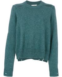 dunkeltürkiser Pullover mit einem Rundhalsausschnitt von Etoile Isabel Marant