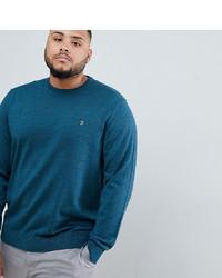 dunkeltürkiser Pullover mit einem Rundhalsausschnitt von Farah