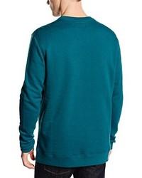 dunkeltürkiser Pullover mit einem Rundhalsausschnitt von Hurley