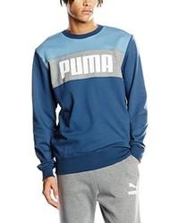 dunkeltürkiser Pullover mit einem Rundhalsausschnitt von Puma