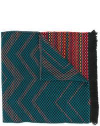 dunkeltürkiser Strick Schal von Missoni