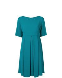 dunkeltürkises ausgestelltes Kleid von P.A.R.O.S.H.