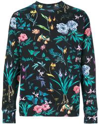 dunkeltürkises bedrucktes Sweatshirt von Paul Smith