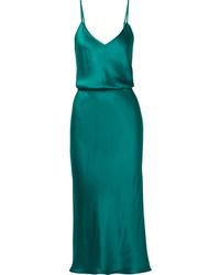 dunkeltürkises Camisole-Kleid