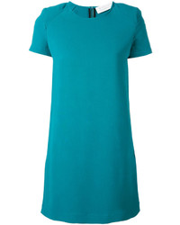 dunkeltürkises gerade geschnittenes Kleid von Gianluca Capannolo