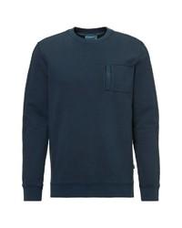 dunkeltürkises Sweatshirt von Marc O'Polo Denim