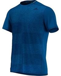 dunkeltürkises T-Shirt mit einem Rundhalsausschnitt von adidas