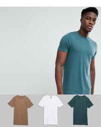 dunkeltürkises T-Shirt mit einem Rundhalsausschnitt von ASOS DESIGN