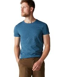 dunkeltürkises T-Shirt mit einem Rundhalsausschnitt von Marc O'Polo