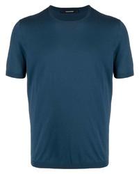 dunkeltürkises T-Shirt mit einem Rundhalsausschnitt von Tagliatore