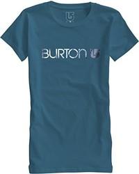 dunkeltürkises T-Shirt mit einem Rundhalsausschnitt von Burton