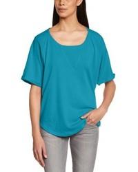 dunkeltürkises T-Shirt mit einem Rundhalsausschnitt von Dorotennis
