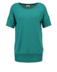 dunkeltürkises T-Shirt mit einem Rundhalsausschnitt von Noisy May