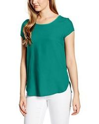 dunkeltürkises T-Shirt mit einem Rundhalsausschnitt von Vero Moda