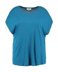 dunkeltürkises T-Shirt mit einem Rundhalsausschnitt von Zalando Essentials