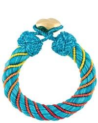 dunkeltürkises verziert mit Perlen Armband von Aurelie Bidermann