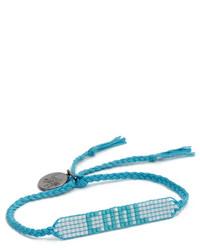 dunkeltürkises verziert mit Perlen Armband von Venessa Arizaga