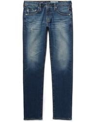 enge Jeans mit Destroyed-Effekten